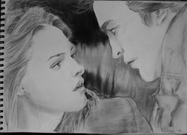 Kristen Stewart, Robert Pattinson par Mushu
